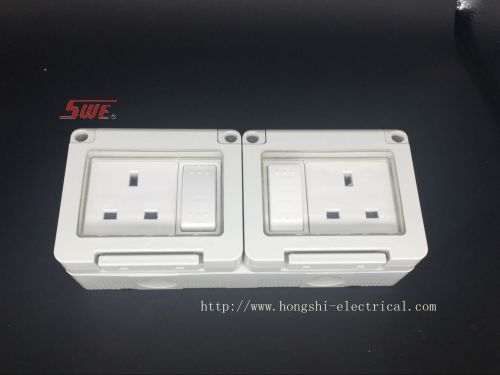 SWE 2 Gang WP Switched Socket