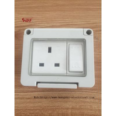 SWE 1 Gang waterproof Switched Socket