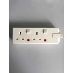 2-G SW trailing socket+neon white/black