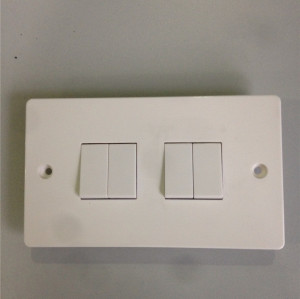 4 Gang Plate Switch 10AX 250V