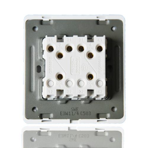 高品质亚克力面板E3W系列开关插座  水晶白色 典雅温柔86型开关插座