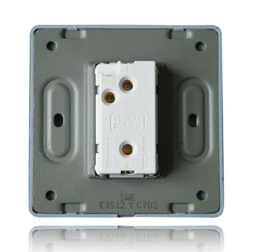 鸿世开关插座 86型开关插座E3S金属拉丝铝拉丝系列 面板墙壁开关 开关插座