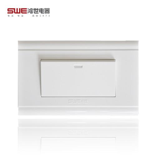 118型安裝係列開關插座 118A係列 PC麵料雅白麵板開關牆壁開關插座