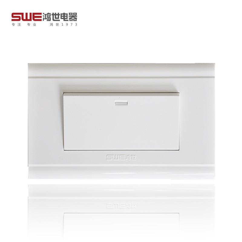 118型安装系列开关插座 118A系列 PC面料雅白面板开关墙壁开关插座