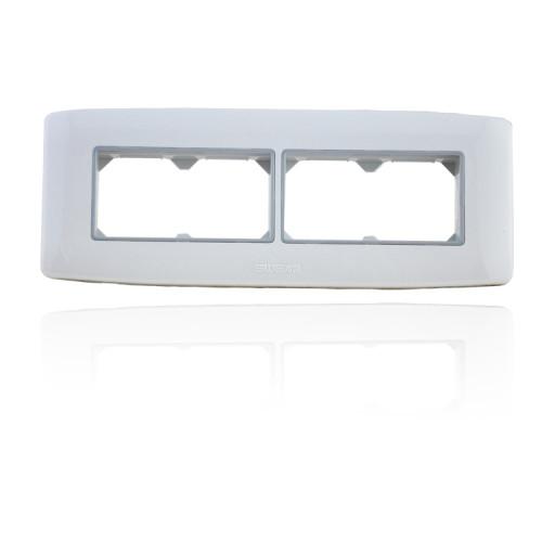 经典雅白118型开关插座 118E系列 灰色内装饰框pc面板开关插座