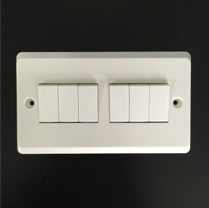 6 Gang Plate Switch 10AX 250V