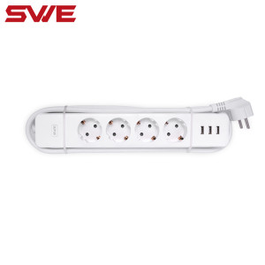 EU Standard WIFI Remote Control Smart Power Strip with USB Timer Function