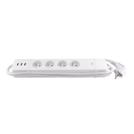 French Standard Wireless WIFI Smart Voice Individual Control Power Strip Power Extension Socket with USB