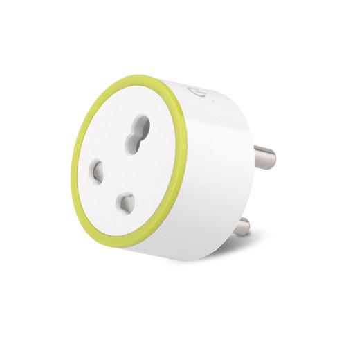 16A India Standard Smart Socket with Power Metering Function Smart Plug Wifi Remote Control