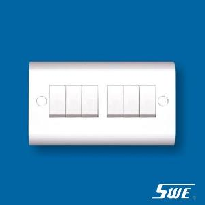 6 Gang Plate Switch 10A 250V (H Range)
