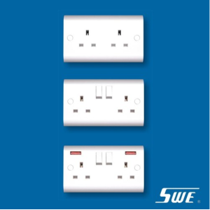 2 Gang Socket Outlet 13A (H Range)
