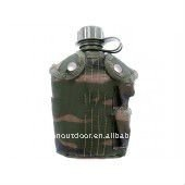 Military Water Bottle- water resistant fabric cover