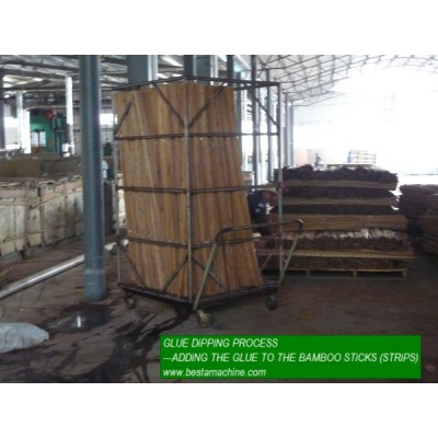 Glue Dipping System For Strand Woven Flooring Making