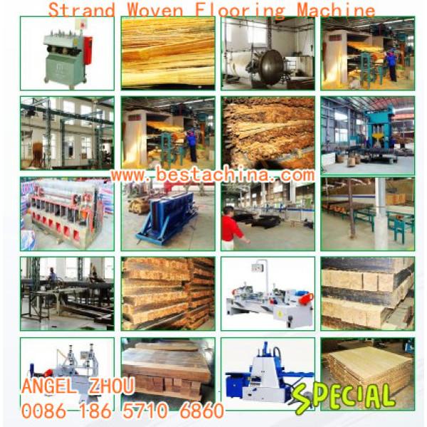 máquina de suelo de bambú