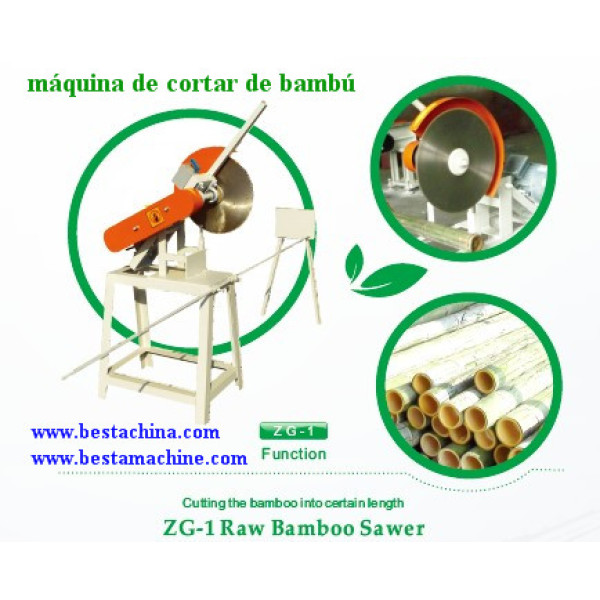 máquina de cortar de bambú