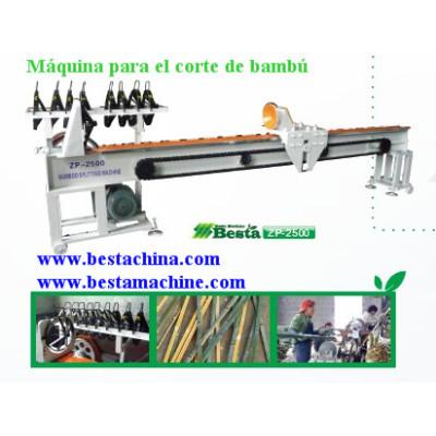 Máquina para el corte de bambú