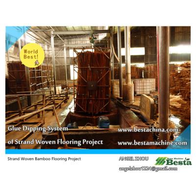 Glue Dipping Machine,strand woven flooring machine