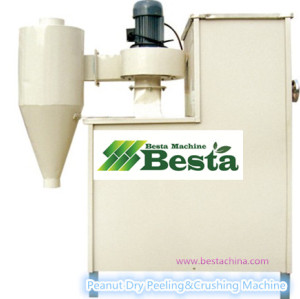 Dry Peanut  Peeling & Crushing Machine