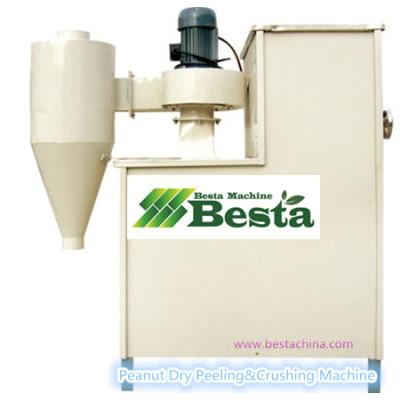 Dry Peanut  Peeling & Crushing Machine