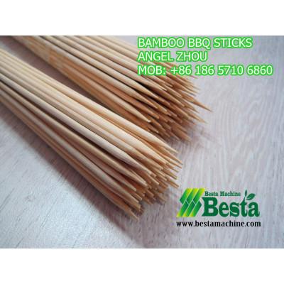 bambú barbacoa palo que hace la máquina
