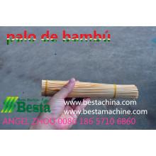 bambú que hace la máquina stick