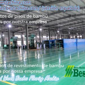 bambú que hace la máquina suelos