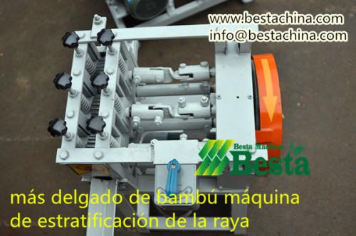 más delgada que hace la máquina tira de bambú