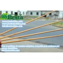 palo de bambú que hace la máquina
