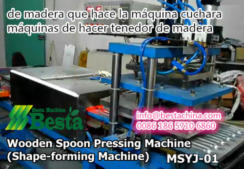 máquinas de hacer tenedor de madera