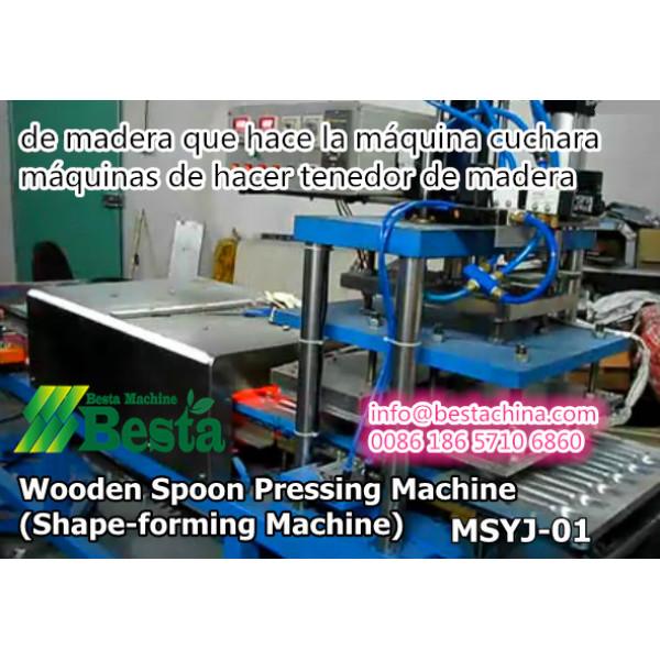 de madera que hace la máquina cuchara