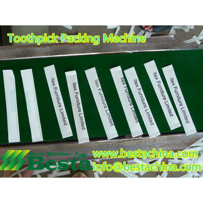 High quality bamboo toothpick packing machine