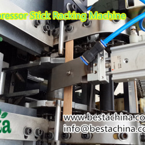 Ice-cream stick racking machine, tongue depressor stick racking machine