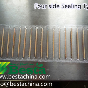 Four Side Sealing  Toothpick Packing Machine