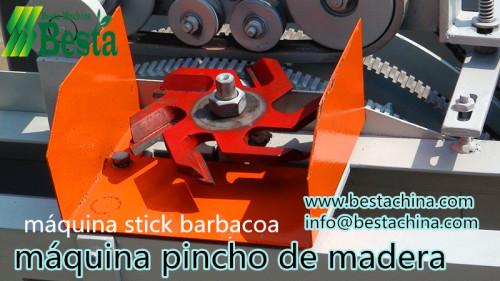 pincho de bambú hace la máquina, máquina de hacer stick barbacoa