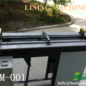 Ice cream stick lining machine