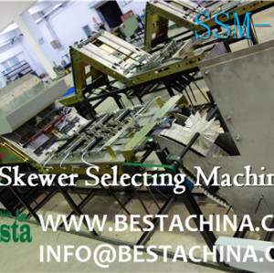 Skewer quality control machine