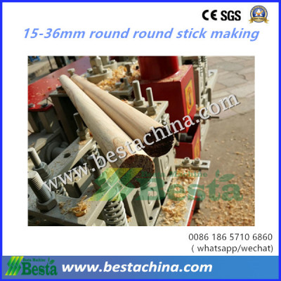 high speed  round wooden stick making machine 15-36mm