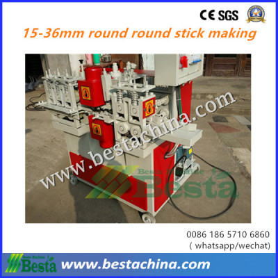 big size  round wooden stick making machine 15-36mm
