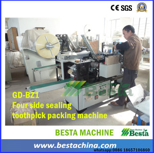 Bamboo Toothpick Machine, Packing Machine (4 side sealing)
