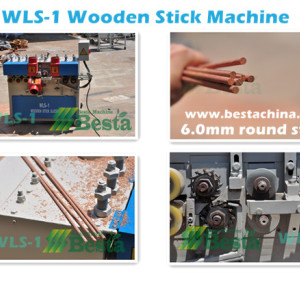 Wooden stick making machine, high quality wooden stick machine