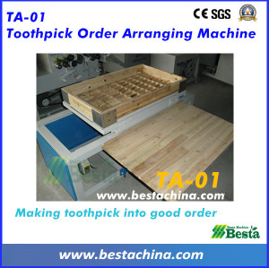 Toothpick Order Arranging Machine, Wooden Toothpick Machine