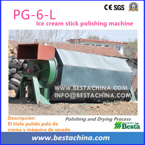 Ice-cream Stick Polishing Machine