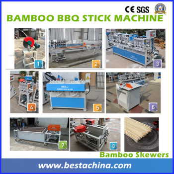 BAMBOO BBQ STICK MAKING MACHINE , Skewer Making Machines