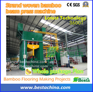 Bamboo Flooring Press Machine (strand woven beam press ), cold press (high quality)