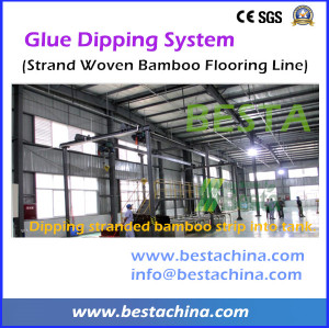 Strand Woven Flooring Making Machine, Glue Dipping Machines