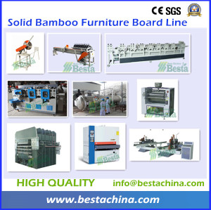 Solid Bamboo Furniture Board Line, Bamboo Flooring Line