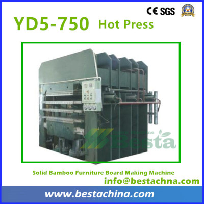 Hot Press Machine, Solid Bamboo Flooring Machine