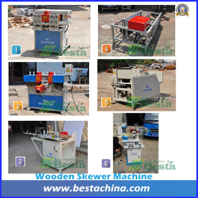 Wooden BBQ Stick Machine, Wooden Skewer Making Machine