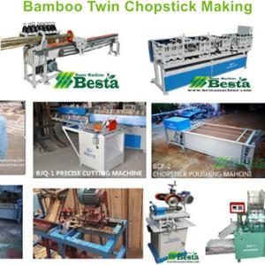 High speed twin chopstick shape forming machine, bamboo chopstick lines