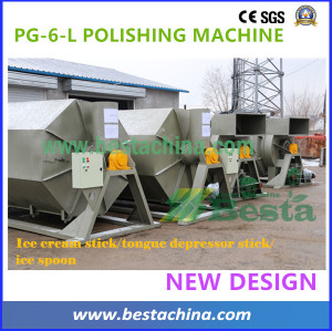 tongue depressor stick polishing and drying machine (new design)
